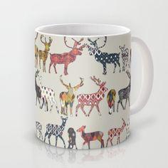 oatmeal spice deer Mug #society6 #mug #sharonturner #deer #ikat