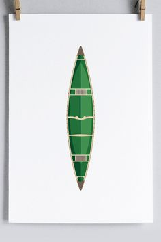 Canoe Art Print // Sanborn Canoe Co. // $25