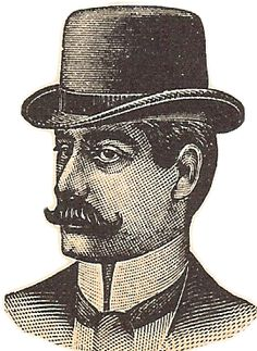 Free Vintage Digital Stamp {300 dpi printable} - Men's Hat Ad