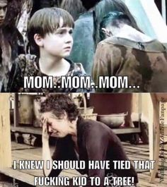 Poor Sam! I know he was annoying but I can't help feeling bad for him. Walking Dead Humor, Walking Dead Show, Walking Dead Quotes, Walking Dead Tv Series, Walking Dead Zombies, Fear The Walking Dead, Rick Grimes, Twd Memes, Talking To The Dead