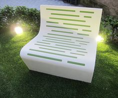 Staron Solid Surfaces by Samsung and designers cornivo + multari reinvent the park bench at FuoriSalone 2011