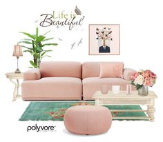 """Airy pink decor"" by biljana-miric-ex-tomic ❤ liked on Polyvore featuring interior, interiors, interior design, home, home decor, interior decorating, DOMESTIC, Muuto, Ellington and Arper"