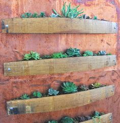 An amazing idea we posted on our facebook account on utilising old wine barrel staves: //www.facebook.com/WineStainsBarossa