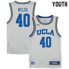 4bcedd502 Youth #40 Thomas Welsh UCLA Bruins College Basketball Jerseys Sale-White  Basketball Court Flooring