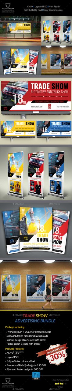 Trade Show Advertising Bundle by OWPictures Advertising Package Description : Trade Show Advertising Bundle including Flyer design, Billboard design, Poster design and Ro