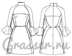 Бесплатная выкройка платья, модель №251, магазин выкроек grasser.ru