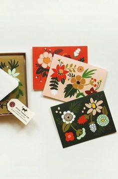 Folk Art Greeting Cards, Set of 8 by Rifle Paper Co.