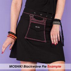 MOSHIKI Röcke Blackwave Pie