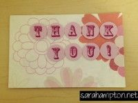Tissue paper thank you card at sarahampton.net.