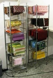 sewing room organization ideas | Sewing Room and Fabric Organization Ideas | Micro-Living