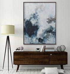 large vertical painting seascape painting by ElenasArtStudio