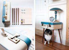 Un tavolino creato con il riciclo valigie vintage #DIY #suitcase #vintage