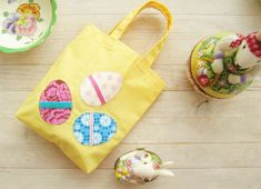 Easter egg basket gift bag sac candy favor treat bag kids