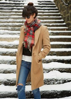Three ways to tie a scarf - A CUP OF JO