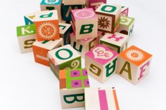 8 extremely cool sets of modern alphabet blocks