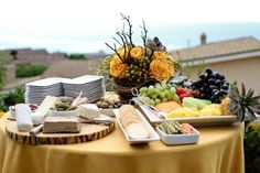 cut a slice of a tree trunk, sand smooth. Use as table decor.