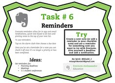 Evernote Task #6 Reminders
