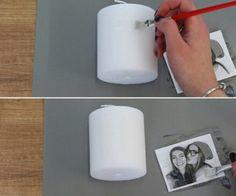 Comment faire un transfert de photo sur une bougie – Astuces de Délices de cuisine