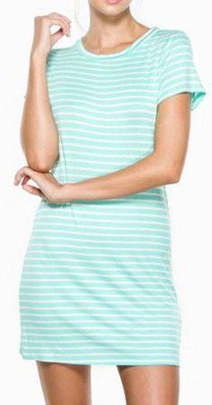 Zadie T Shirt Dress in Mint