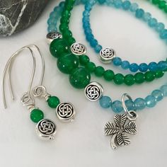 Get your GREEN on with our Ireland-inspired gemstone jewelry, unique & beautiful Irish wool note cards, & more!  SALE is on! 10% off store-wide. Save even more with code 25FREESHIP ($25 minimum purchase). See Shop Announcements for details.