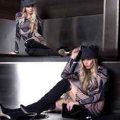 Get this look: http://lb.nu/look/8547513  More looks by Dora D.: http://lb.nu/dora_d  Items in this look:  Cat Ears Hat, Missmoi Black And Nude Bodycon Dress, Black Suene Over The Knee Boots, Bunny Keychain   #bohemian #chic #elegant
