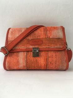 Shoulderbag made of used firehose and leather