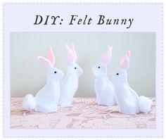 Super cute & easy felt bunny to make: Spring DIY Projects / Ruche Blog