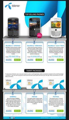 Telenor Landing Page Design