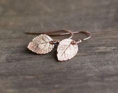 Oro rosa foglia orecchini gioielli per la mamma regali di burnish