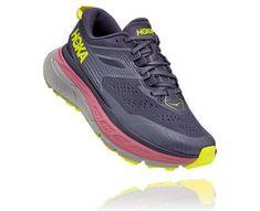 Stinson Atr 6 Trail Shoes, Trail Running Shoes, Hoka One One, Moroccan Blue, Rocker, Evening Primrose, Grey Yellow, Footwear, Heels