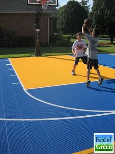VersaCourt is perfect for your backyard basketball court. And with our quality basketball goals, you can shoot hoops anytime you want!