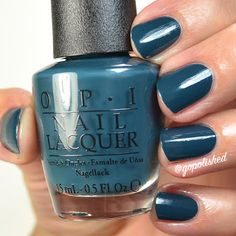 CIA= Color Is Awesome is a lovely teal polish. New from the OPI Washington DC Collection 2016 (Fall/ Winter). Opi Nail Polish, Opi Nails, Pretty Nails, Washington Dc, Fall Winter, My Love, Awesome, Painting, Color
