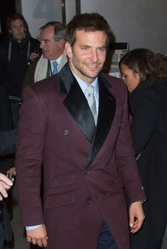 Bradley Cooper wearing @followwestwood Man Fall 2014 coat and Todd Snyder suit – 'American Hustle' Paris Premiere #2014