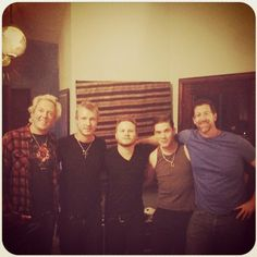 """Shinedown on Instagram (31-Jan-2014): """"The Smith and Myers team... BLUE ON BLACK DAY, with Mr. Kenny Wayne Shepherd."""""""
