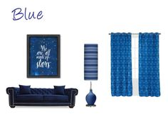 """""""Blue"""" by lillieshade on Polyvore featuring interior, interiors, interior design, home, home decor, interior decorating, Americanflat and Yorkshire Home"""