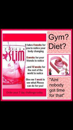 Plexus Slim! What are you waiting for? What if...this is the last thing you ever have to try to lose that weight?! What if???? Try it today!It taste great too!   Ambassador #177206 http://plexusslim.com/myslimdrink