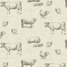Farm Yard Fabric   Our farm yard 100% cotton Fabric is beautifully printed and is perfect for curtains, cushions, tablecloths and countless