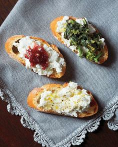 Crostini with Ricotta and Red-Onion Jam Recipe