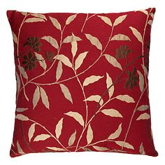 Buy John Lewis Saffron Trail Cushion, Claret online at JohnLewis.com - John Lewis £30