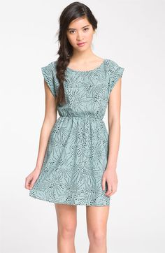 Lush Suspended U-Back Print Dress (Juniors) available at Nordstrom