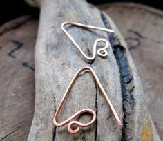 Triangle Hoop Ear Wires Findings Copper Curve Earwires 20 gauge | Jewelry-Findings-Supplies - Handmade Supplies on ArtFi