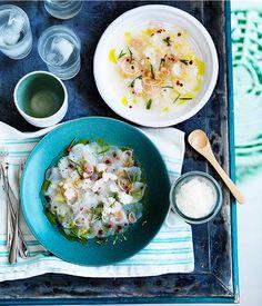 Scallop Crudo With Lemon & Rosemary Granita...