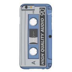 Iphone 6 barely there fun vintage retro cassette design. 80s old school cassette style.