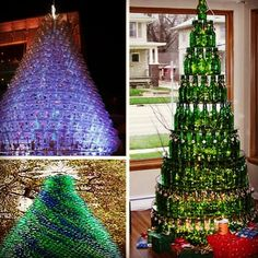 Top 3 Christmas trees made from 100% #recycled materials! Photo by globalrecycling #Christmas
