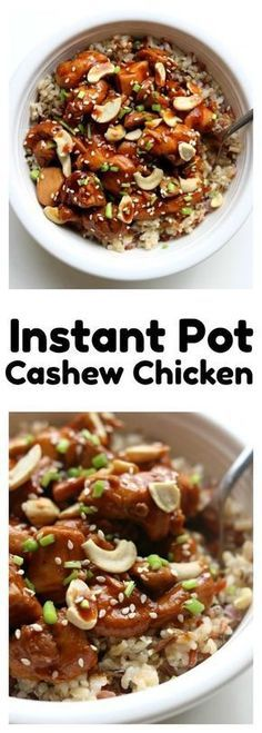 Instant Pot Cashew Chickenthis cashew chicken is just as good as your favorite Chinese restaurant. Its super easy and flavorful and its all made in the comfort of your own kitchen. The instant pot speeds up the process and helps get dinner on the table Slow Cooking, Pressure Cooking, Cooking Turkey, Cooking Pasta, Cooking Bacon, Crockpot Recipes, Chicken Recipes, Cooking Recipes, Healthy Recipes