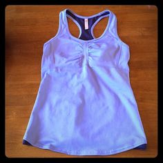 LUCY medium workout top Medium lavender LUCY workout top with built in bra support system (see last picture for details). In excellent condition! Lucy Tops Tank Tops