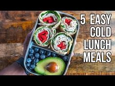 5 Easy Cold Lunches / 5 Comidas que Se Pueden Comer en Frío - YouTube