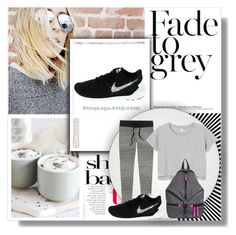 """""""BlingLogo-Customized Nike Shoes 2"""" by gaby-mil ❤ liked on Polyvore featuring London Fog, Victoria's Secret, Monki and Rebecca Minkoff"""