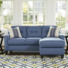 """Melbourn 80"""" Reversible Chaise Sectional"""