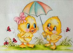 Baby Painting, Fabric Painting, Easy Drawings, Pencil Drawings, Sugar Paste Flowers, Easter Pictures, Baby Ducks, Doll Quilt, Step By Step Drawing